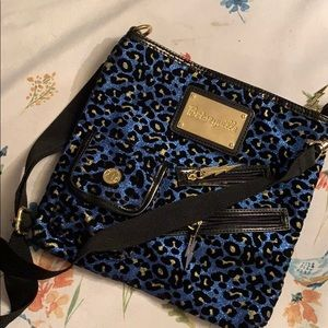 Brand New Betsey Johnson Blue Leopard Print Purse